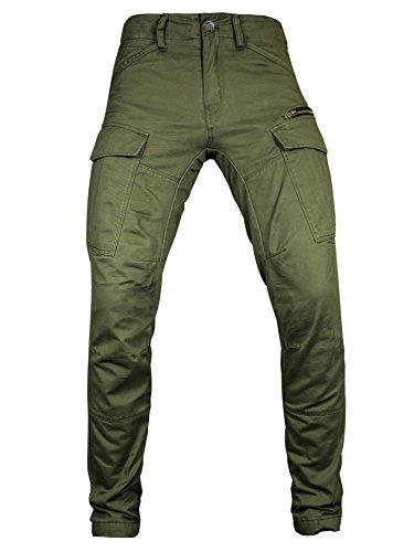 John Doe Motorrad Hose Pants Stroker Olive-W34-L32-XTM