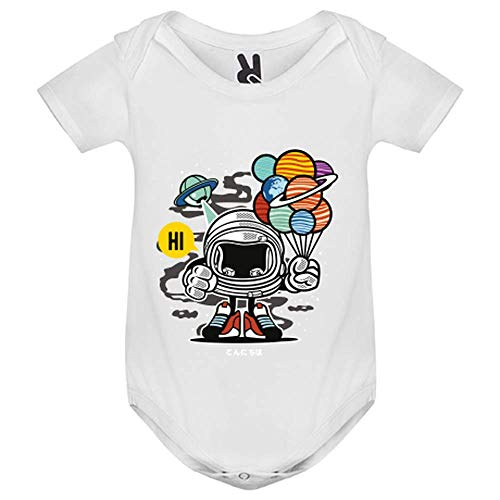 LookMyKase Body bébé - Gift from Outer Space - Enfant - Blanc - 9MOIS
