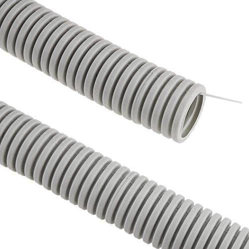 BeMatik - Tubo Corrugado PVC con guía M-32 50 m Gris