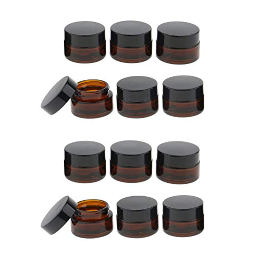kowaku Ensemble de 12 Pots de Pommade, Pots de Crème, Pots En Verre, Pots de Crème, Pots Vides