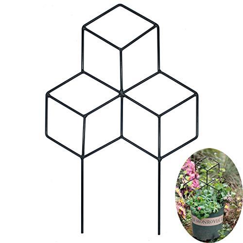 MYHZH Jardin Treillage métallique, Treillis en Forme Trellis Usine pour Le Bricolage en Pot Plantes grimpantes Soutien, légumes Fleur Rose Vigne Pois Ivy Concombres, Fer Métal,Small