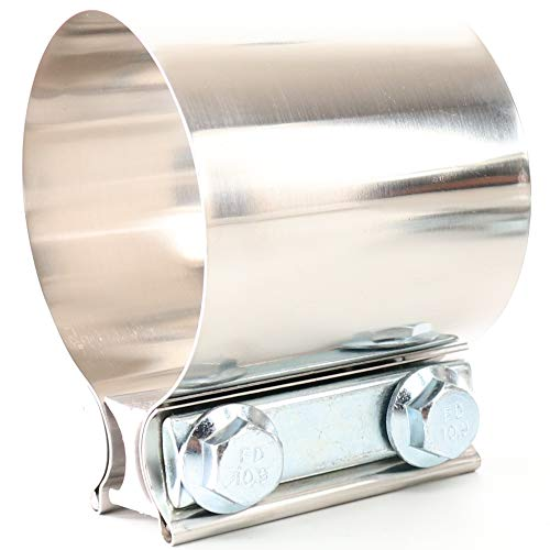 TOTALFLOW 3' TF-JB60 304 Stainless Steel Butt Joint Exhaust Muffler Clamp Band-3 Inch