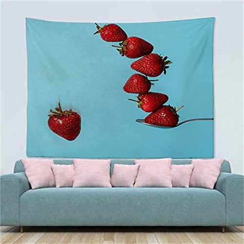 YYRAIN Impresión Digital Tapiz para El Hogar Tapiz Patrón De Frutas Decoración De La Pared Tapiz De Regalo Toalla De Playa Multifuncional 150x130cm I