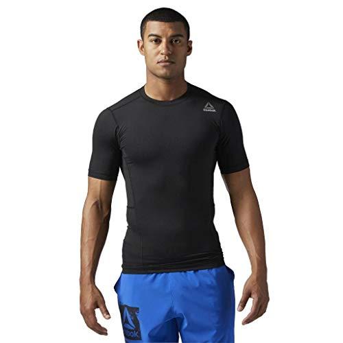 Reebok Herren Workout Compression T-Shirt, Black, M