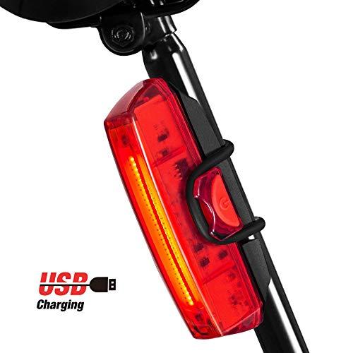 Luz Bicicleta Trasera, Rodozn Led Bicicleta Recargable USB con 6 Modos Luz Cola, Lámpara Luz Alerta Impermeable y Fácil de Instalar - Rojo Luz