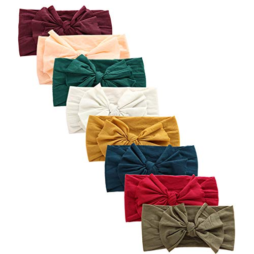 Baby Girl Nylon Headbands Newborn Infant Toddler Hairbands and Bows Child Hair Accessories (baby 0-8years, AK47)