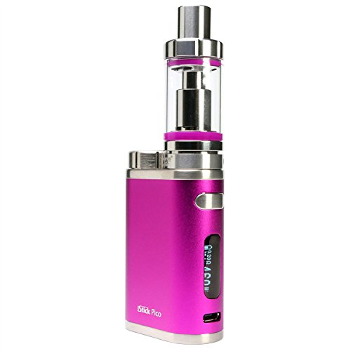 Eleaf iStick Pico 75 Watt Kit mit Melo 3 Clearomizer 4 ml, Riccardo e-Zigarette, fuchsia (pink)