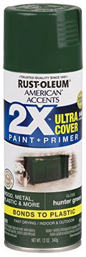 Rust-Oleum 327879-6 PK American Accents Spray Paint, 6 Pack, Gloss Hunter Green