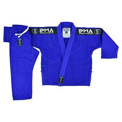 Niños Elite BJJ Pearl Rejer Jiu Jitsu Uniforme - Azul - Azul, M00
