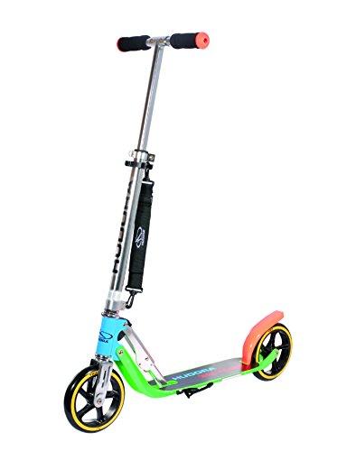 HUDORA Big Wheel 180 Scooter, Tret-Roller - City-Scooter klappbar, neon, 14747