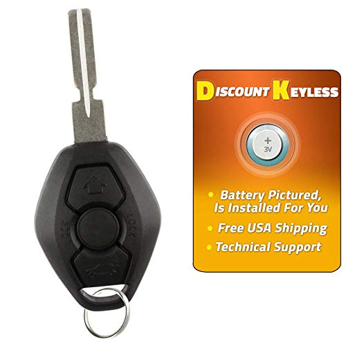 Discount Keyless Replacement Keyless Entry Car Remote Fob Uncut Key Combo Compatible with LX8FZV LX8 FZV
