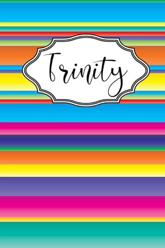 Trinity: Personalised Journal Notebook for Girls Named Trinity. (Custom...