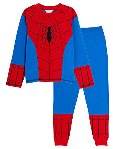 MARVEL Boys Spiderman Pyjamas Dress Up 3-4 Years Red/Blue