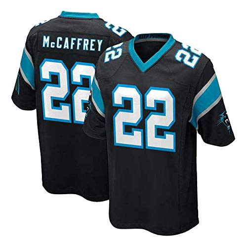 22# Mccaffrey Panther Fußball Trikot RugbyJersey atmungsaktiv und leicht Sportbekleidung, ein speziell für Sie zugeschnittenes Fan-T-Shirt, reflektieren Sie Ihre Eigenschaften Gr. XL, Schwarz