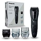 Panasonic ER-GB61-K503 - Recortadora Para Hombre Cuerpo, Barba Y Cabeza (3 En 1, Recargable, Acero Inoxidable, Batería Larga Duración, 39 Ajustes, 3 Accesorios Incluidos) negro/plata