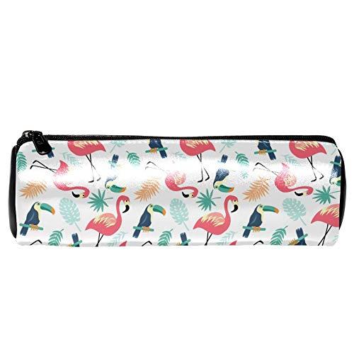 TIZORAX Pennenetui grijze wekker pen tas make-up tas voor vrouwen meisjes jongens 7.9x2.5in Patroon 8
