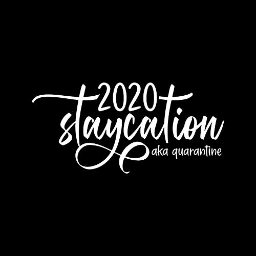 2020 Staycation AKA Quarantine Funny Decal Vinyl Sticker Cars Trucks Vans Walls Laptop  White 5.5 x 2.6 in DUC1320