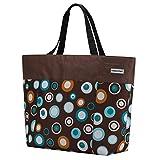 Anndora - Borsa shopper o da spiaggia, misura XXL, colore a scelta Marrone/Azzurro xxl
