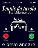 Tennis da tavolo Sta Chiamando E Devo Andare.: Notebook Tennis da tavolo | 120 Pages | Size 15.24cm x 22.86cm | Taccuino