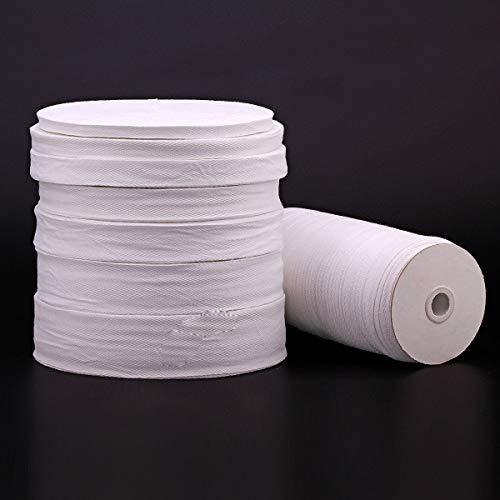 Egurs Cinta de algodón de 45 m / rollo, cinta al bies, cinta de costura para planchar, accesorio de ropa, cordón de algodón