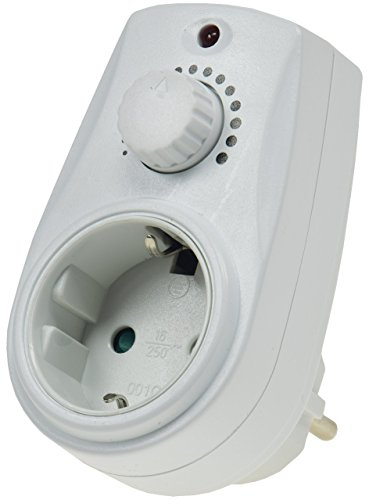 Steckdosendimmer Helligkeitsregler Steckdosen-Dimmer 20-280 Watt stufenlos regelbar