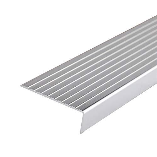 KDOAE Nariz Antideslizante de Escalera 75x25mm Ángulo Escalera de Borde de ángulo Perfiles de 1.5M Longitud L Forma de Aluminio de Aluminio Anti resbalón sin Deslizamiento Adecuado para Escaleras