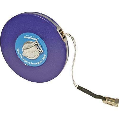 Silverline MT40 - Cinta métrica de fibra de vidrio para agrimensor (50 m)