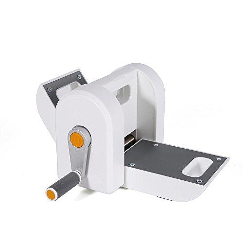 RANZIX Manuelle Stanz und Prägemaschine, Stanzmaschine stanzen Maschine Embossing Machine Weiß, mit Saugfuß