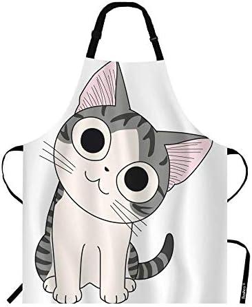Beabes Chi Cat Sitting Apron Funny Chi s Sweet Home Big Black Eyes Cute Pet Cat Design Bib Apron product image