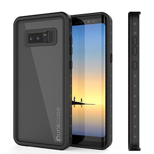 Galaxy Note 8 Waterproof Case, Punkcase [StudStar Series] [Slim Fit] [IP68 Certified] [Shockproof] [Dirtproof] [Snowproof] Armor Cover for Samsung Galaxy Note 8 [Black]