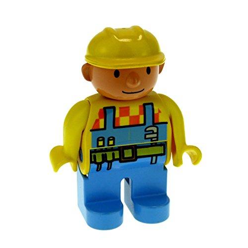 1 x Figur Duplo Bob der Baumeister blau gelb Bauarbeiter Disney Lego 4555 E12