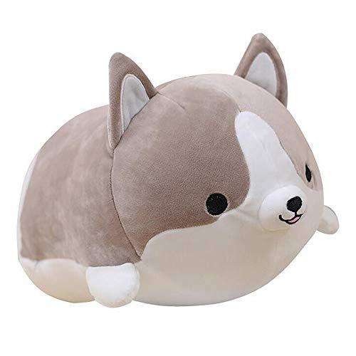 sofipal Corgi Dog Plush Pillow, Cute Shiba Inu Corgi Butt Stuffed Animal Toys Gifts for Bed, Valentine, Kids Birthday, Christmas (Gray, 11.8inch)