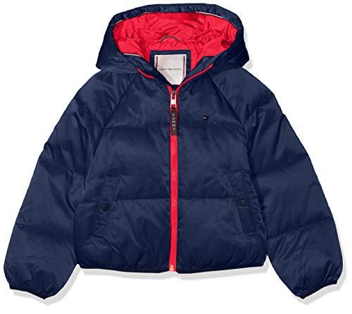 Tommy Hilfiger Mädchen Recycled Short Puffer Jacke, Blau (Black Iris 002), 140 (Herstellergröße:10)
