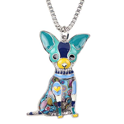 MAWEI Dog Pendant Necklaces, Enamel Pendants Charm Necklaces Collar Chain Fashion Animal Jewelry For Women,Stly A