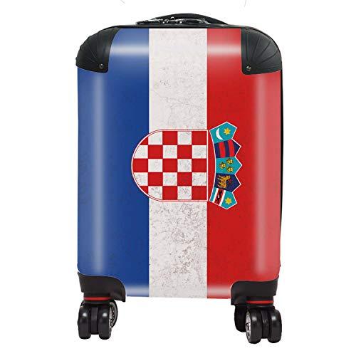 Vlag Kroatië / Kroat vlaggen Zuid-Europa koffer kinderen met slot TSA 4 wielen draaibaar handbagage 46 cm 29 liter