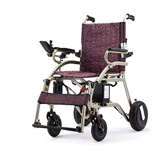 Rolstoel Elektrische rolstoelen gehandicapten en ouderen opvouwbare rolstoel Elektrische rolstoelen Intelligent elektromagnetische rem,Gray