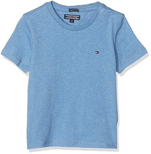 Tommy Hilfiger Jungen Boys Basic Cn Knit S/S Regular Fit T-Shirt, Blau (Dark Allure Heather 408), 152 ( Herstellergröße: 12)