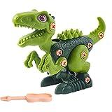 Canghai Juguetes de dinosaurio para niños - Juego de juguetes de construcción con taladro eléctrico Construcción Ingeniería Juego de juguete dividible para niños (verde 1)