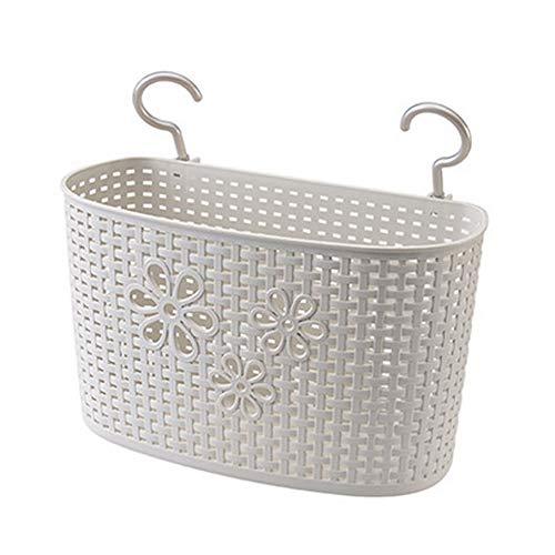 Weimay - Cesta colgante de plástico para cocina, baño, almacenamiento, gel de ducha, champú, lavado, lavabo, cesta colgante, jabón, cesta de desagüe