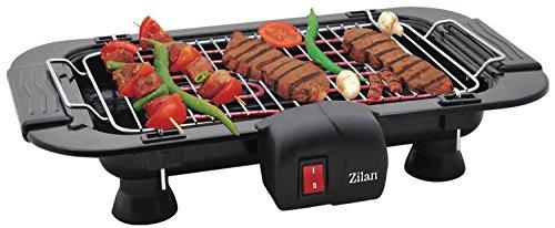 Zilan Elektro Grill   Tischgrill   Partygrill   elektrischer BBQ Grill   Cool Touch Griffe   Tisch Grill elektrisch   BBQ Grill   2.000 Watt  