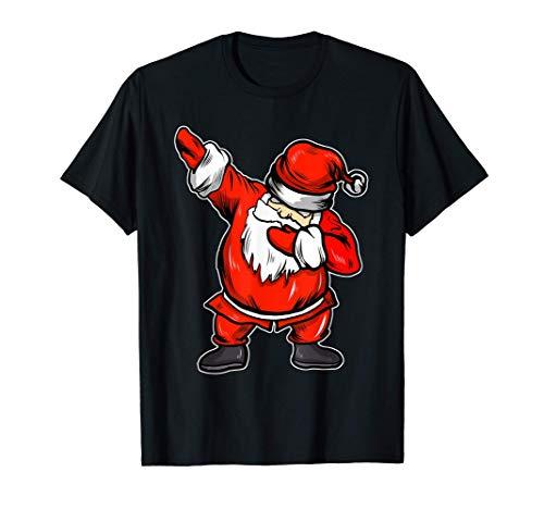 Divertente Babbo Natale Dabbing Regali Di Natale Maglietta