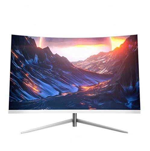GHGJU Computerbildschirm 27-Zoll-Computerbildschirm ohne Rand, gekrümmter Bildschirm, externer Bildschirm, 1080p-Bildschirm for HDMI VGA-Schnittstelle