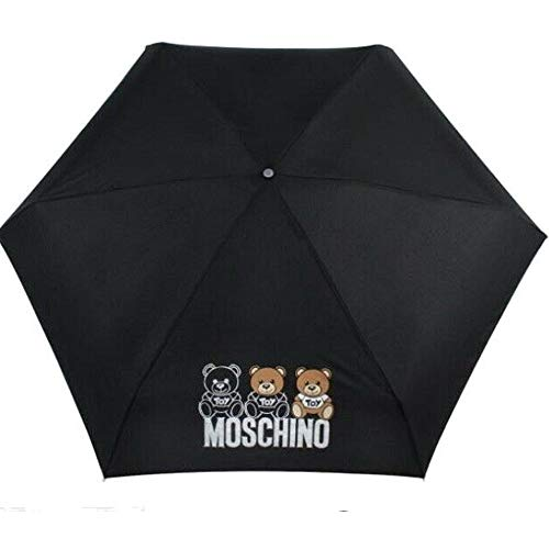 Regenschirm Moschino schwarz Supermini Teddy-Design