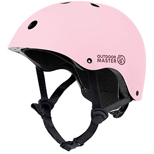 OUTDOORMASTER Children's Bicycle Helmet, Children's Helmet, For Toddlers, Kids, Sports Helmet, CPSC Safety Standard, Lightweight, Breathable, 3D Protection Cushion, Replacement Cushion, Removable, Washable, Omni-Directional Adjuster, Cycling, School, Skateboard, Exercise, Ice Skating for Girls and Boys