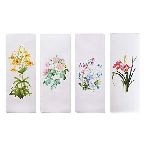 Metrox - a1663 - Set di 4 umidificatori in ceramica da applicare al termosifone, evaporatori ad acqua, motivo fiori di campo