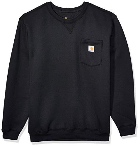 Carhartt Men's Crewneck Pocket Sweatshirt (Regular and Big & Tall Sizes), Black, Large