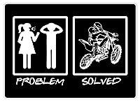 Problem Solved Motorcross ティンサイン ポスター ン サイン プレート ブリキ看板 ホーム バーために