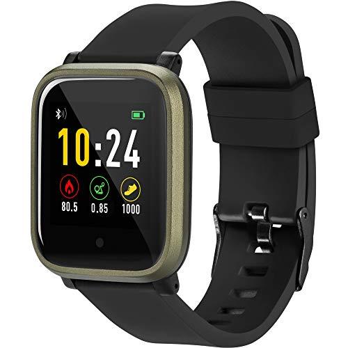 acme Smartwatch SW102 | Fitness Armbanduhr | Fitness Tracker | Armband | Sportuhr | Bluetooth, 1,3 Zoll Touchscreen, Pulsuhren, Schrittzähler, Schlafmonitor, mit IP67 Wasserdicht, für iOS Android