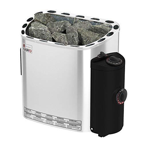SAWO SCANDIA Elektrische Saunaofen, Leistungsbereich: 4,5 kW; 6,0 kW; 8,0 kW; 9,0 kW; mit integrierte Steuerung (NB-Modell); Multispannung: entweder Einphasig oder 3-Phasig; Edelstahl