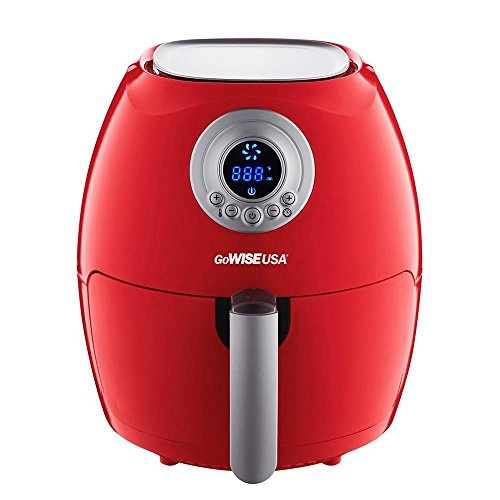 GoWISE USA GW22633 2.75-Quart Digital 50 Recipes for Your Air Fryer Book, Qt, Red